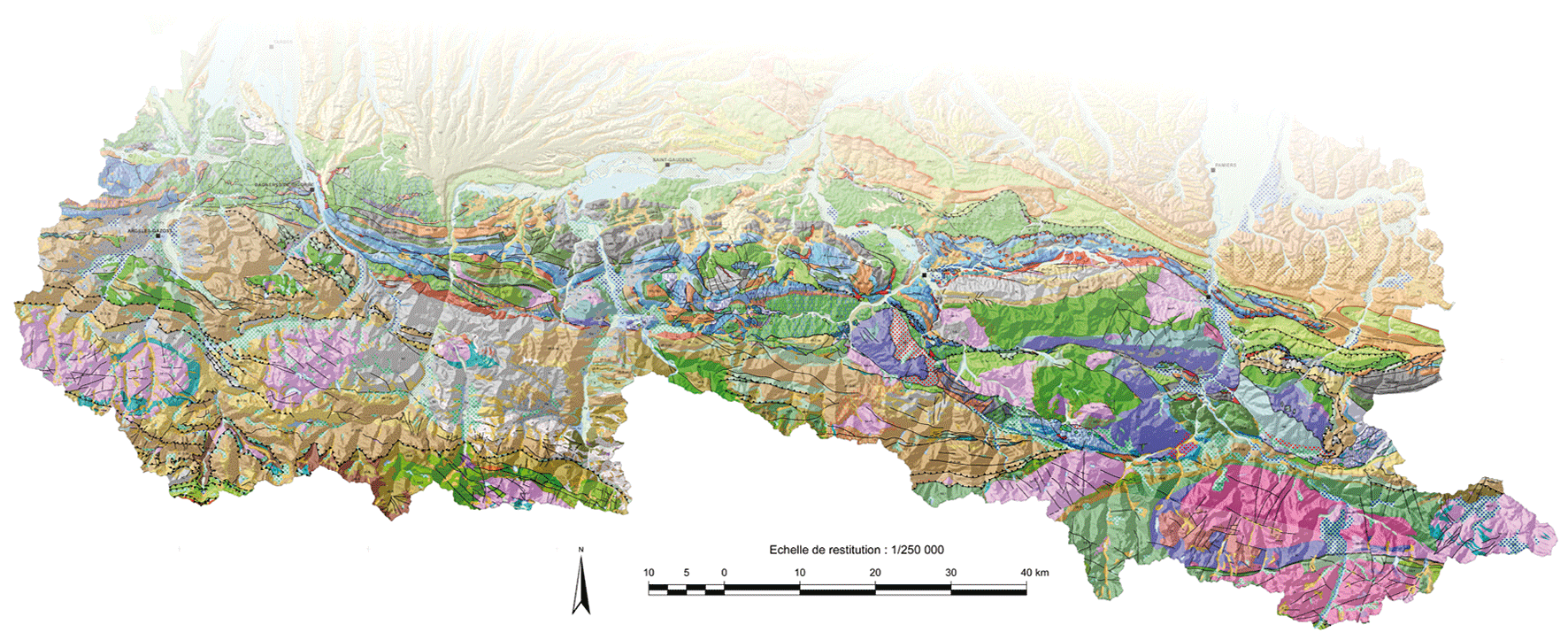 Carte Geologique Lorraine.Carte Geologique Numerique A 1 250 000 De La Region Midi