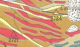 Carte géologique des massifs du Canigou et de la Carança à 1/50.000