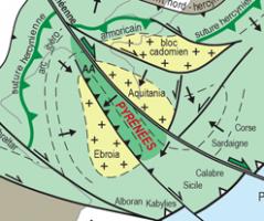 Les Pyrénées pré-hercyniennes et hercyniennes