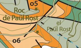 Carte géologique à 1/25 000 du Synclinal de Villefranche-de-Conflent entre Jujols et Nohèdes (massif du Coronat, Pyrénées-Orientales, France) (Laumonier, 2016)